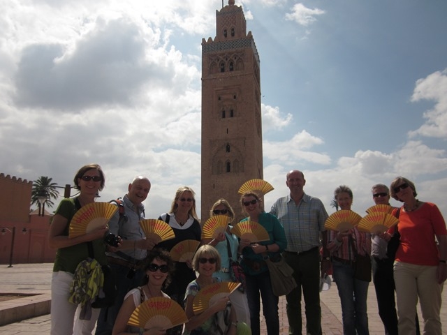 Der Safran-Fächer in Marokko