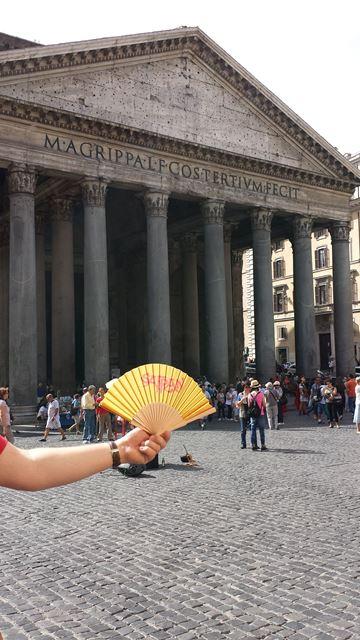 Der Safran-Fächer in Rom