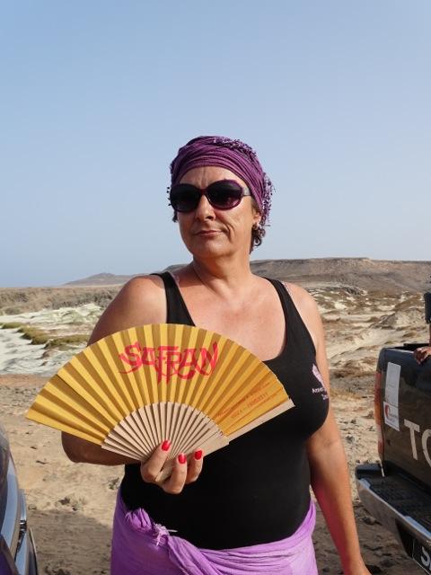 Der Safran Fächer auf den kapverdischen Inseln