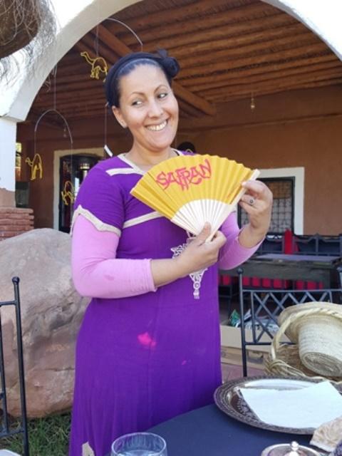 Der Safran Fächer in Marokko