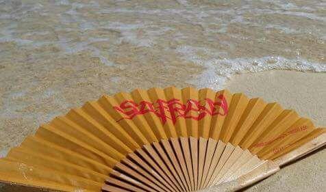 Der Safran Fächer in Griechenland